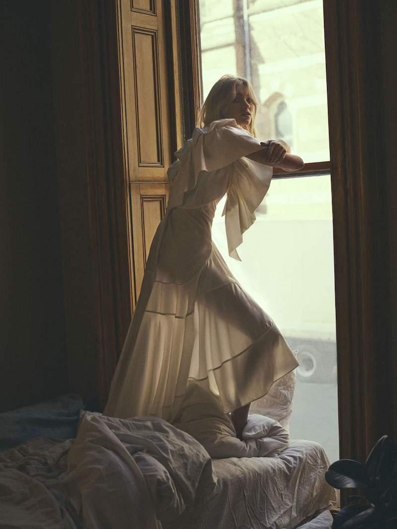 LOEWE Cutout Ruffled Jacquard and Crepe Dress