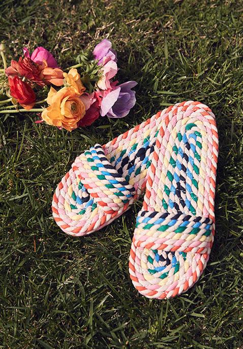 Loeffler Randall Woven Slide Sandal