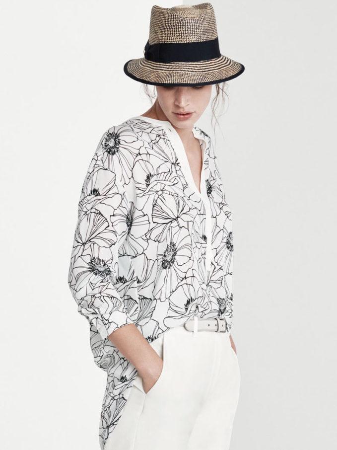 Loro Piana Cathy Floral-Print Silk Henley Shirt