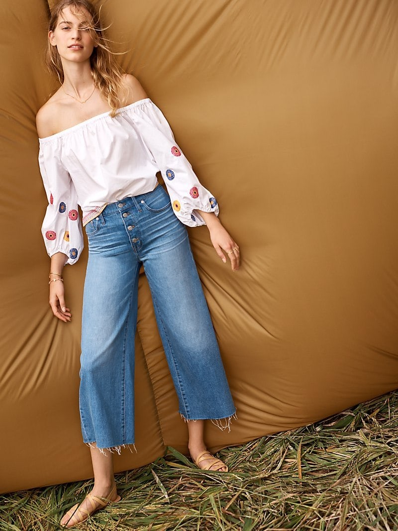 Madewell Wide-Leg Crop Jeans Button-Front Edition