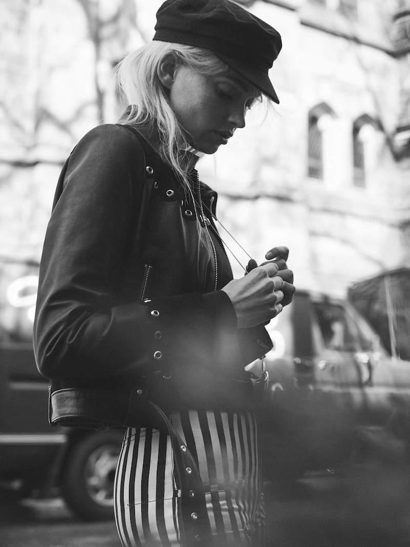 Maje Embellished Suede-Trimmed Leather Jacket