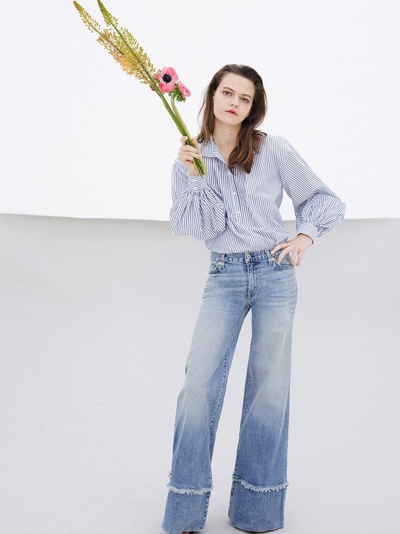 Nili Lotan Claira Striped Cotton Poplin Shirt
