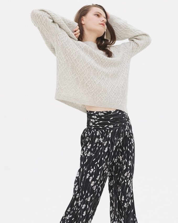 Nili Lotan Quay Mixed-Knit Cashmere Sweater