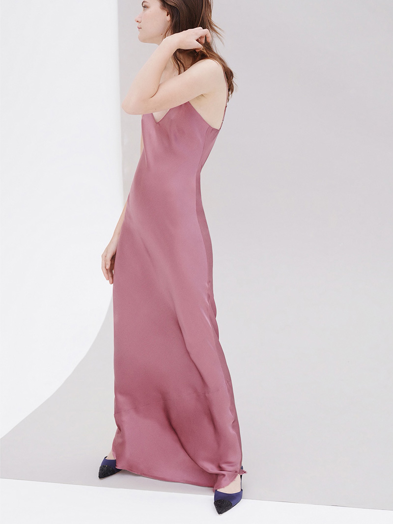 Nili Lotan Silk Maxi Slip Dress