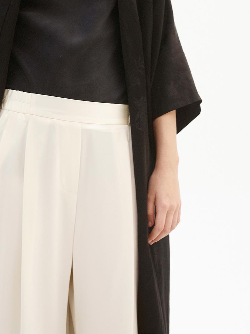 Nili Lotan Vivienne Silk Wide-Leg Trousers
