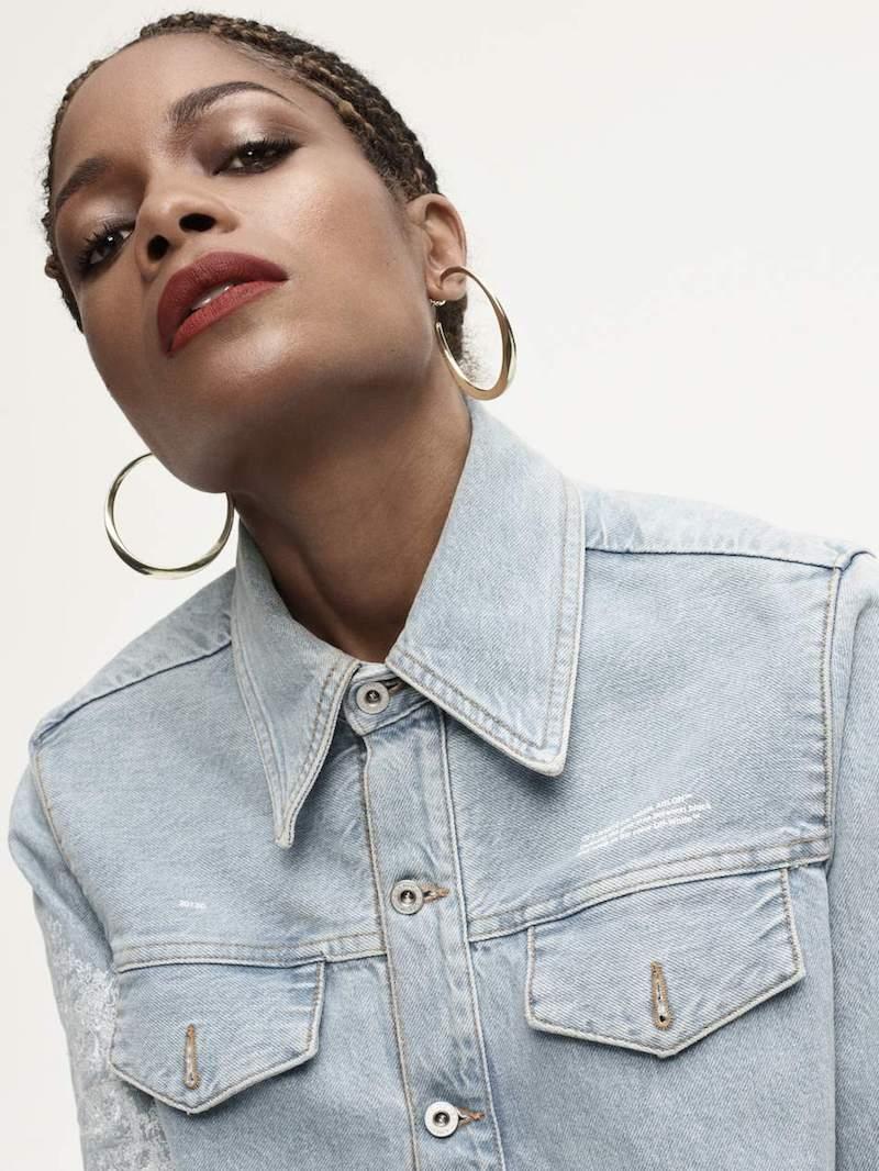 Off-White Embroidered Denim Jacket