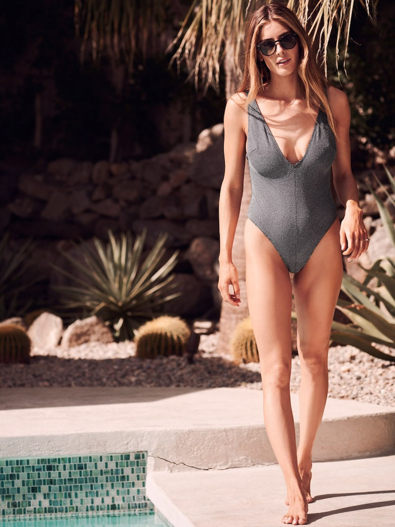& Other Stories V-Neck Swimsuit