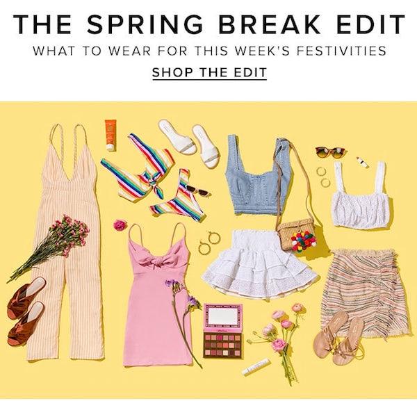 REVOLVE Spring 2018 The Spring Break Edit