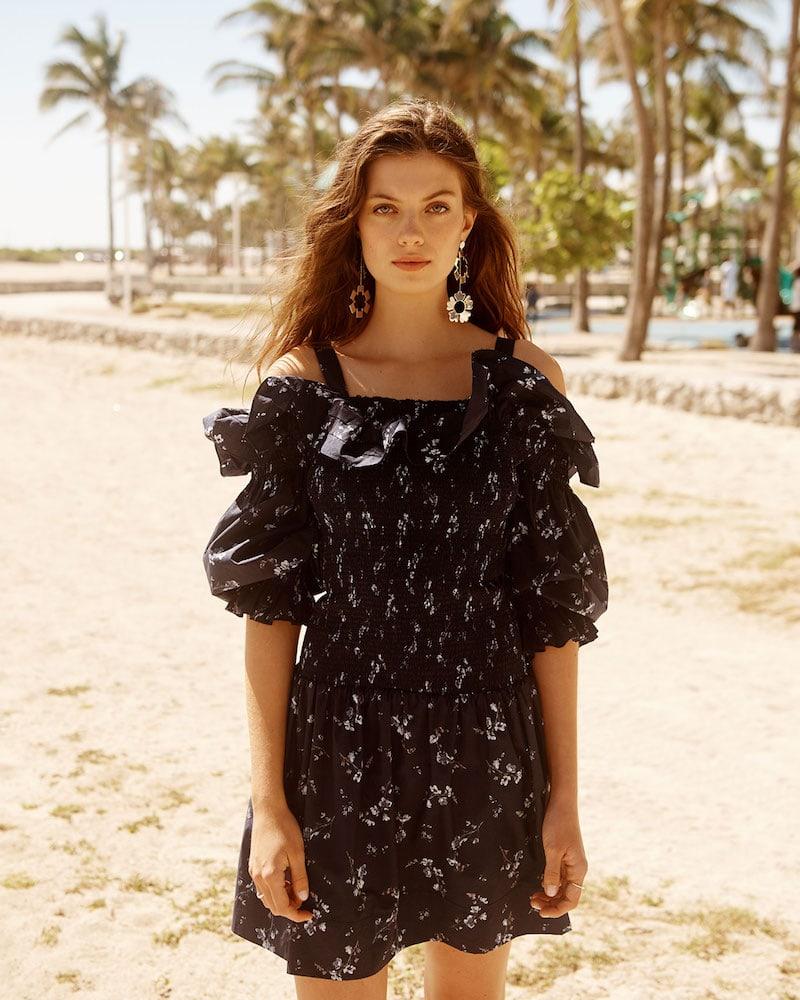Rebecca Taylor Off Shoulder Francine Dress