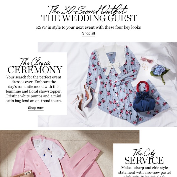 The 30-Second Outfit // Spring 2018 The Wedding Guest