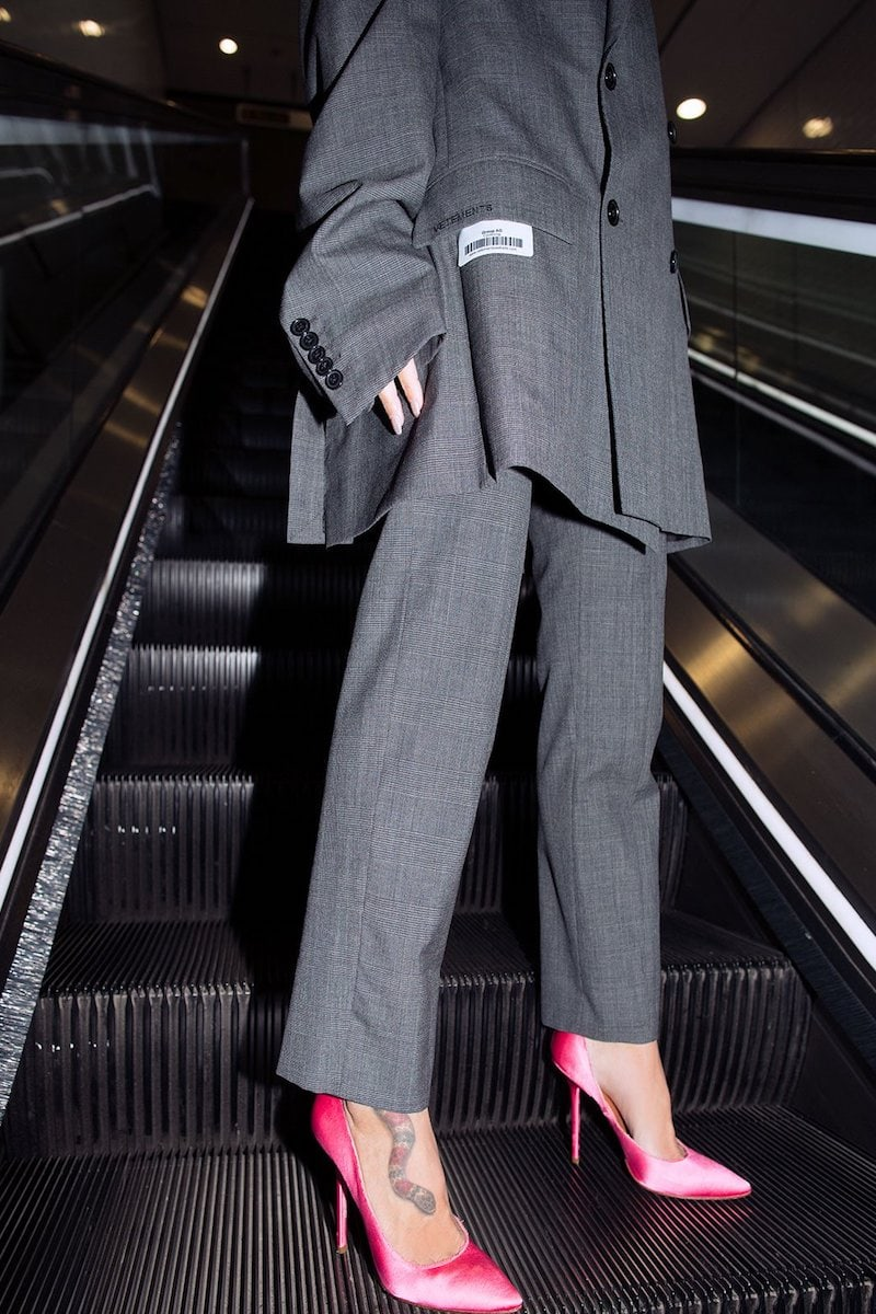 Vetements Straight-Leg Prince of Wales-Checked Trousers
