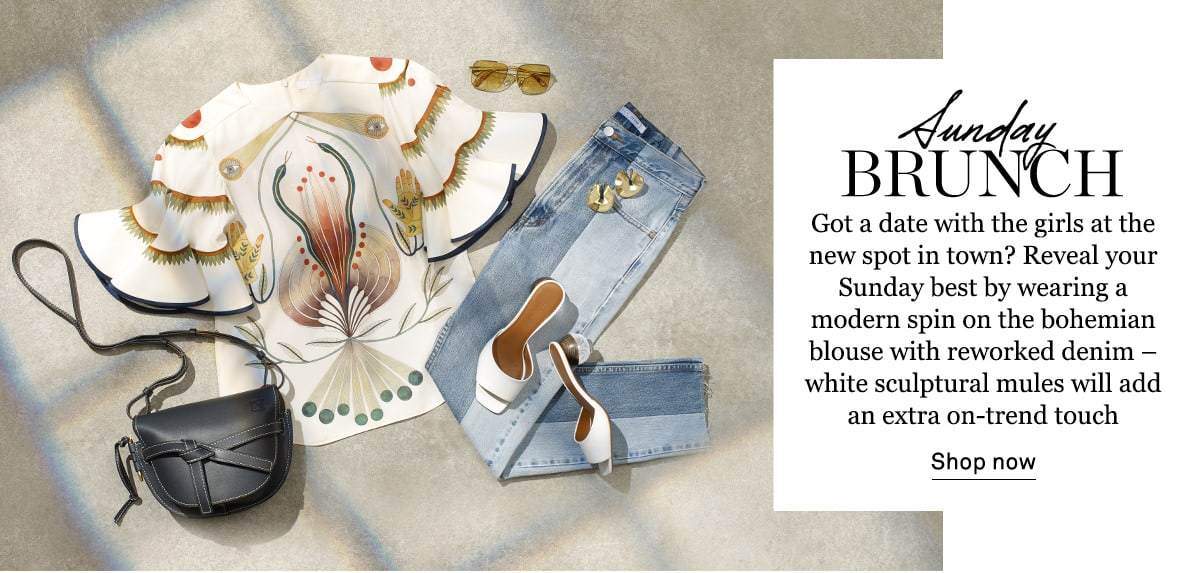 SHOP WHAT TO WEAR FOR SUNDAY BRUNCH >