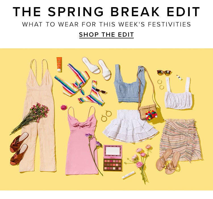 The spring break edit. What to wear for this week's festivities. Shop the edit.