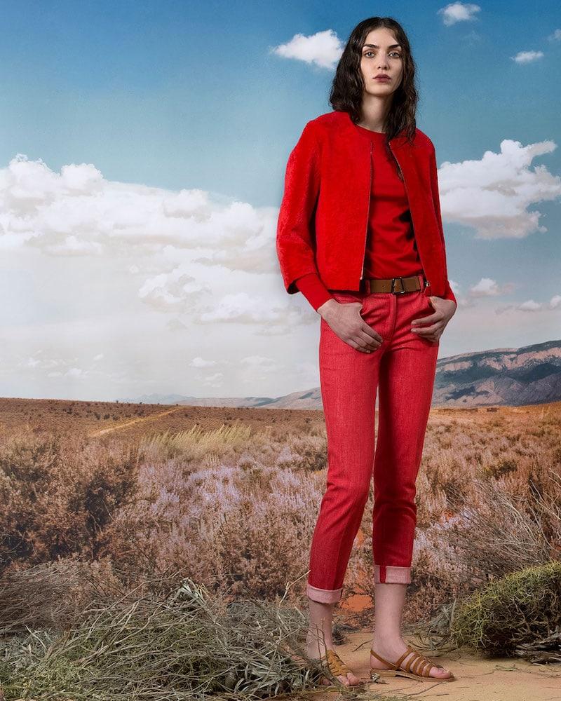 Akris Sunella Zip-Front Bracelet-Sleeve Lamb Shearling Fur Jacket