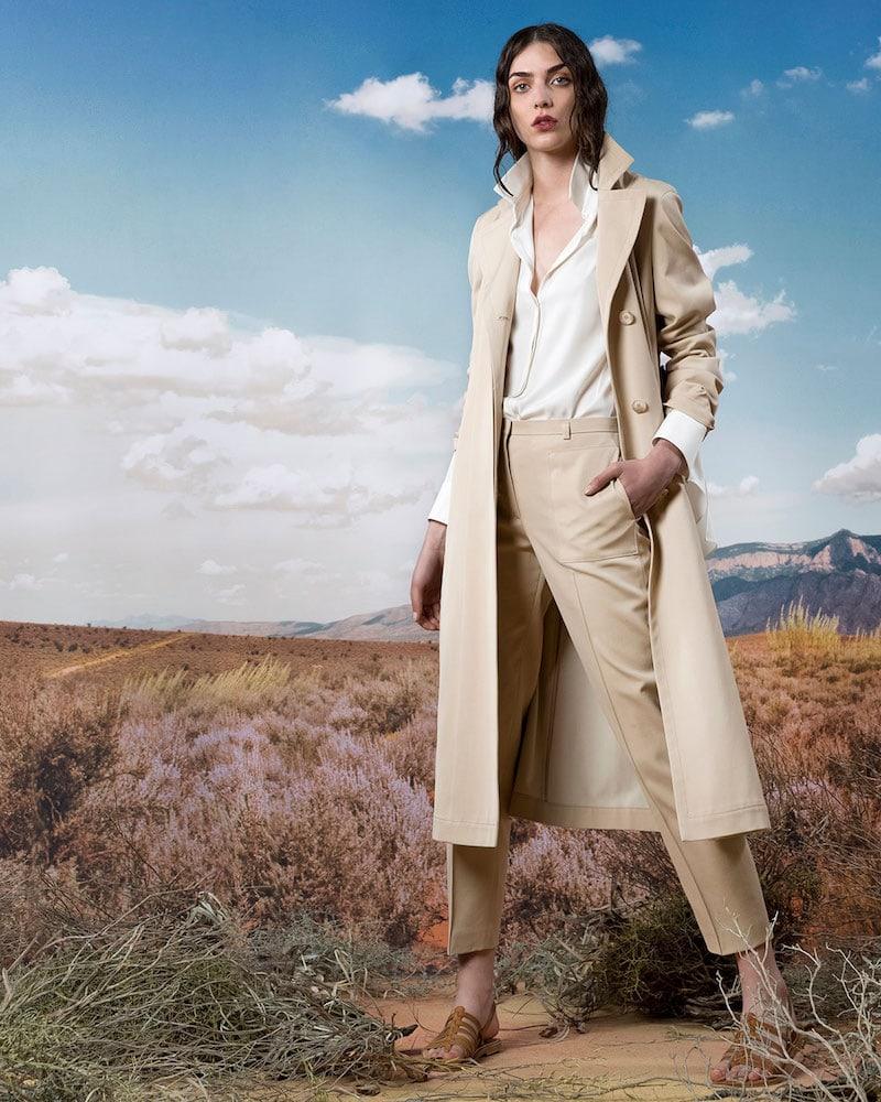 Akris Teri Single-Breasted Belted Cotton-Silk Gabardine Trench Coat