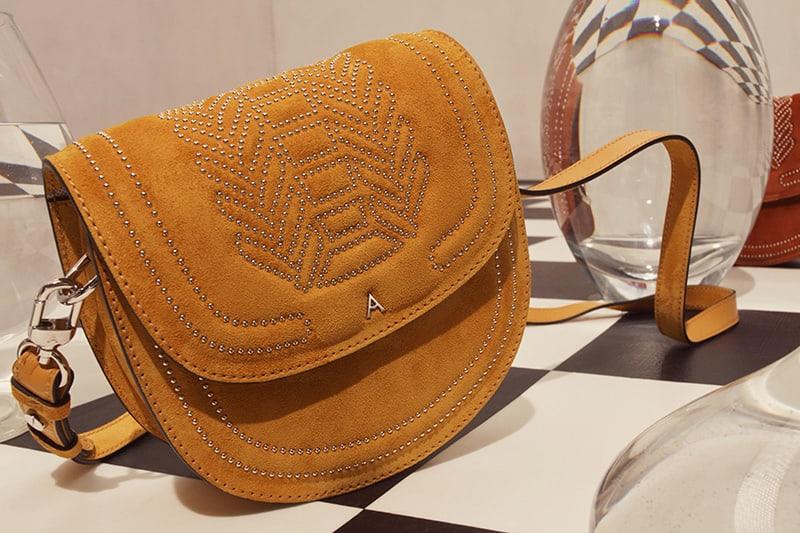 Altuzarra Ghianda Small Suede Saddle Bag