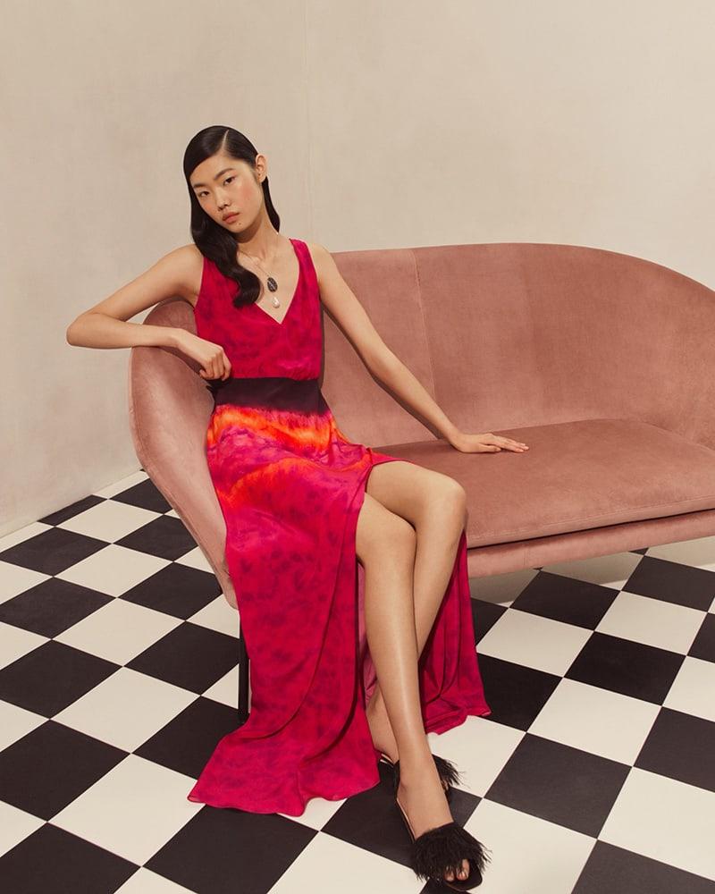 Altuzarra Tie-Dyed Crepe Maxi Dress