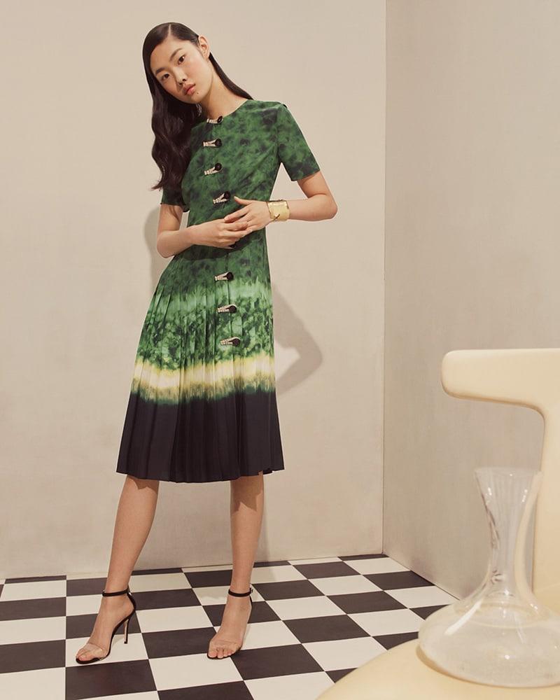Altuzarra Tie-Dyed Silk Maxi Dress
