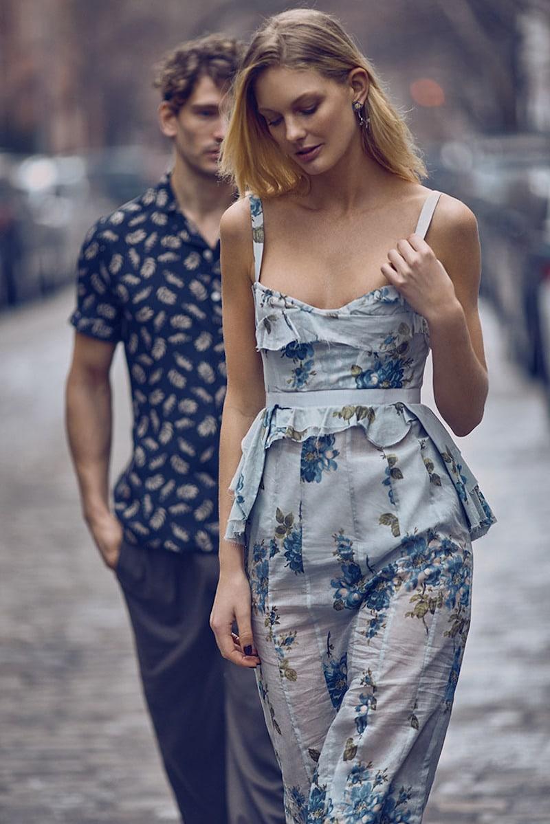 Brock Collection Dailey Floral-Print Cotton Midi Dress