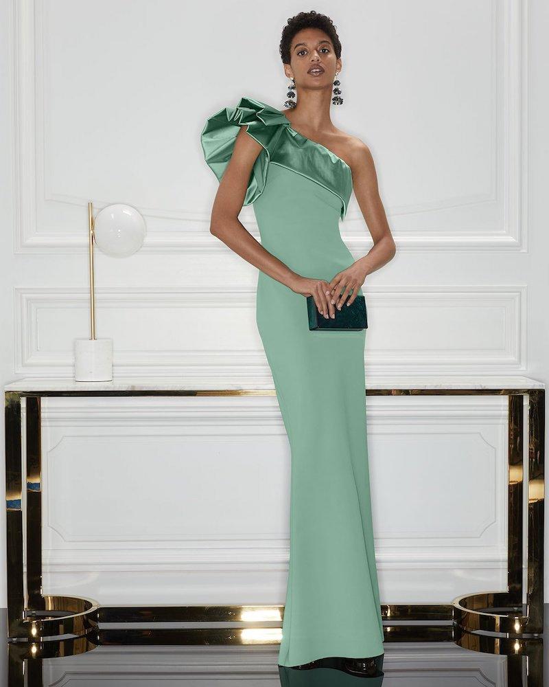 Chiara Boni La Petite Robe Elise One-Shoulder Satin Gown