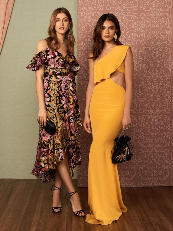Cushnie Et Ochs Silk Gown with Sash & Cutout