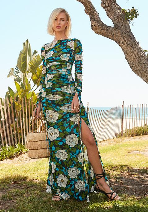 Diane von Furstenberg Fitted Mesh Dress