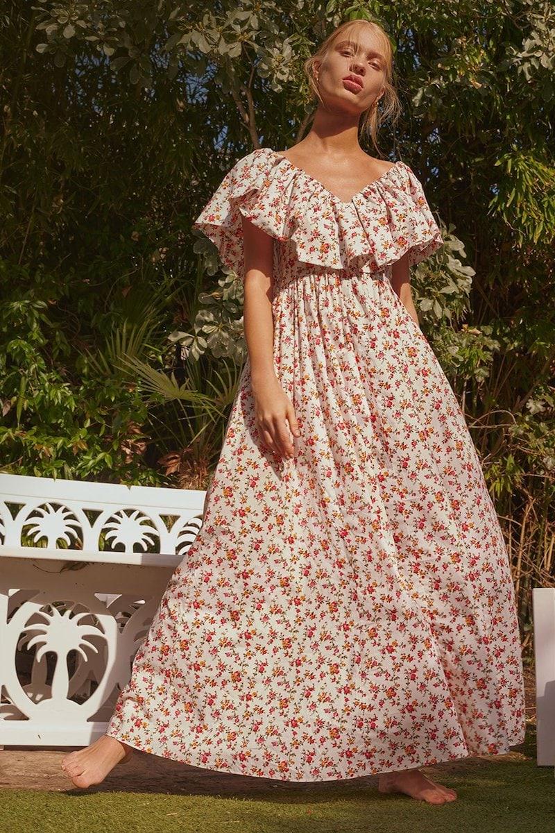 Emilia Wickstead Jarvis Floral-Print Cotton Maxi Dress