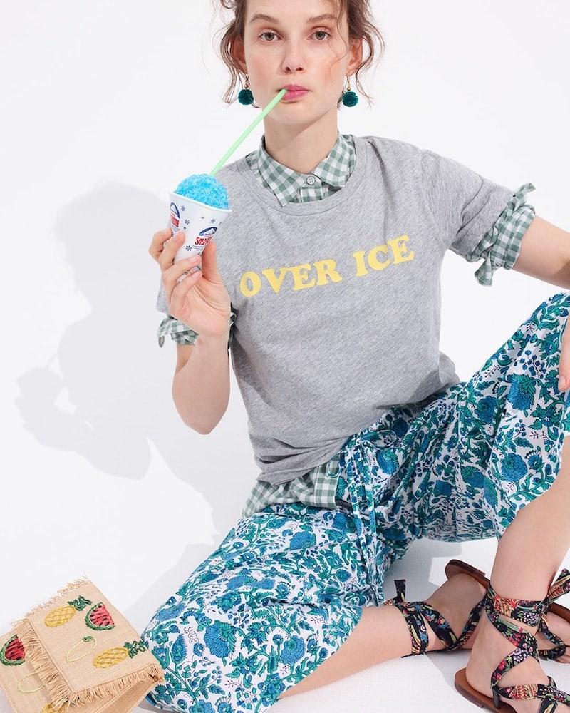 "J.Crew ""Over Ice"" T-Shirt"