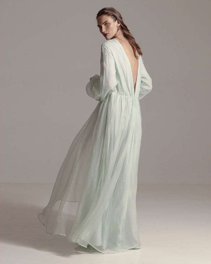 Kalita Aphrodite Silk-Organza Maxi Dress