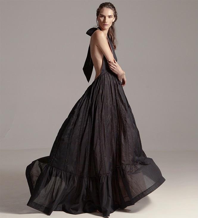 Kalita Rooftop Runaway Silk Halter Dress