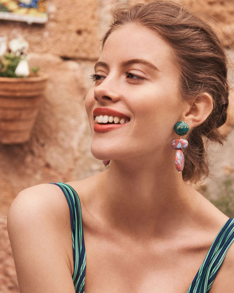 Lele Sadoughi Boulder Drop Earrings