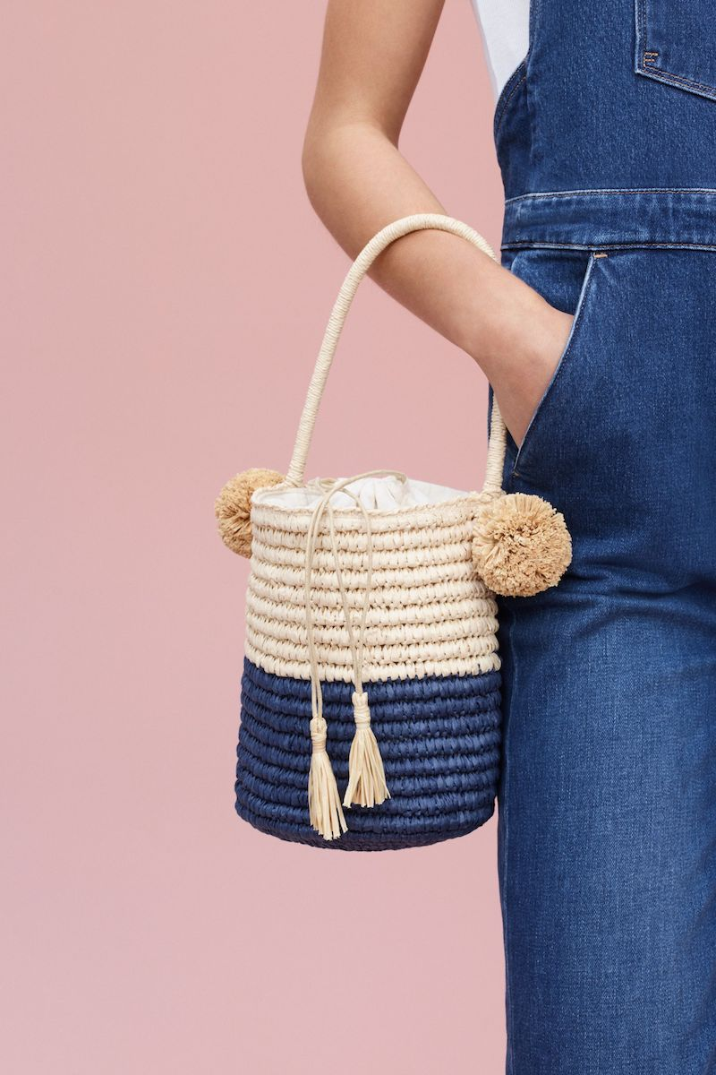 Nordstrom Straw Bucket Bag