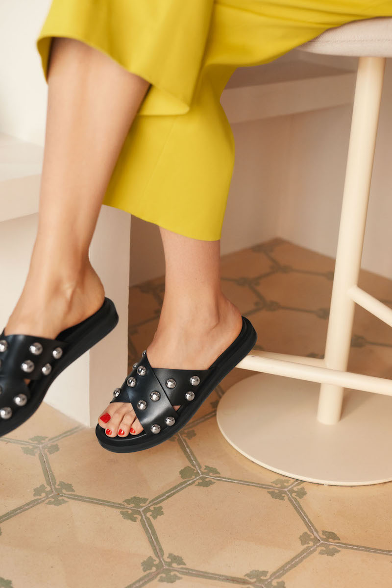 & Other Stories Studded Criss Cross Slip Ons