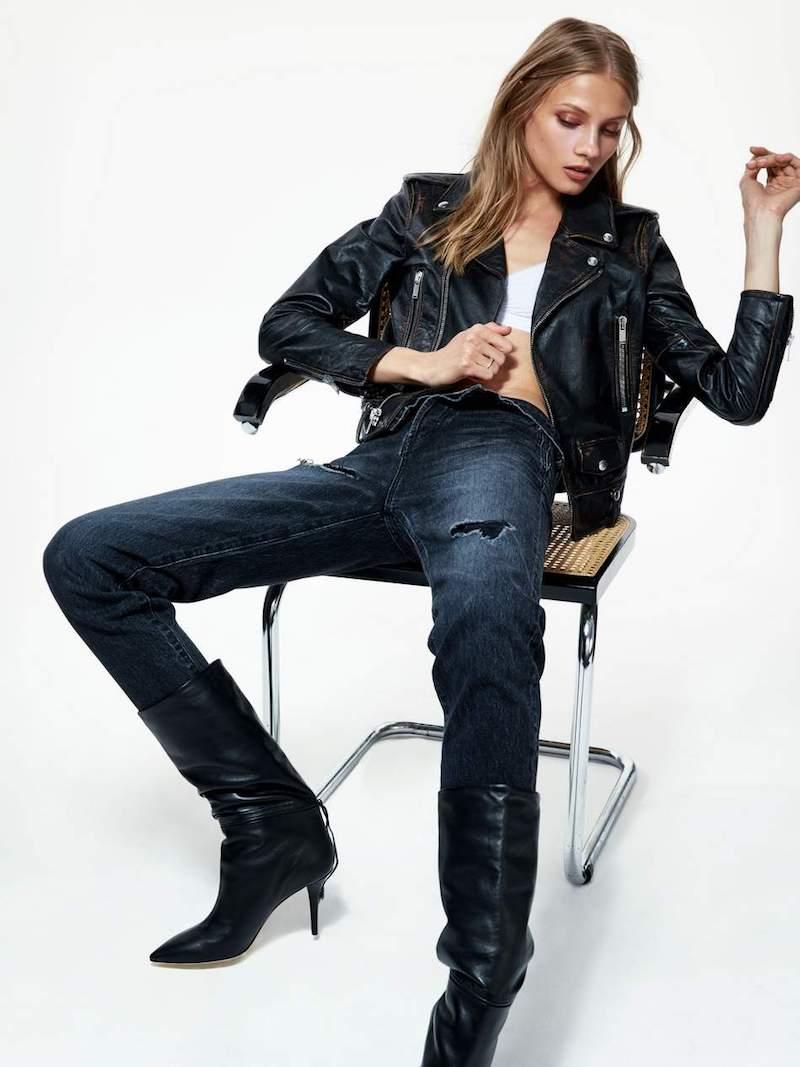 Saint Laurent Perfecto Distressed Leather Biker Jacket