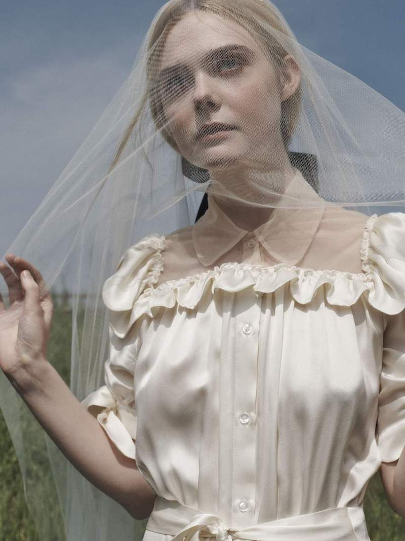 Simone Rocha Mesh-Paneled Ruffled Washed Silk-Satin Dress