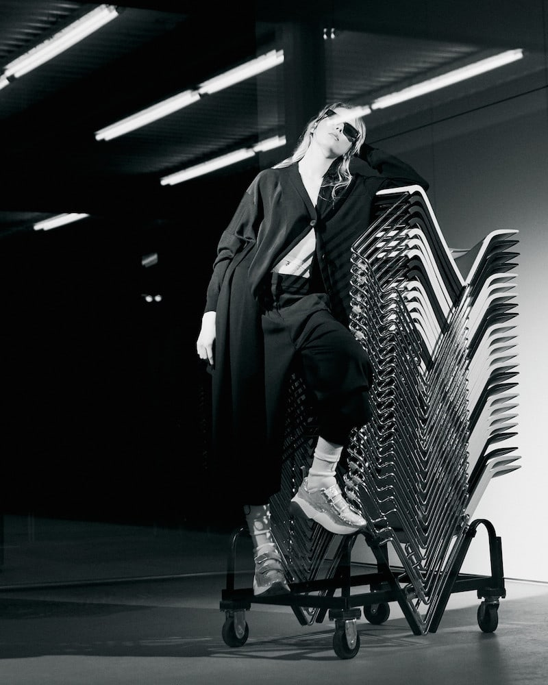 Stella McCartney Navy Mohair Trousers