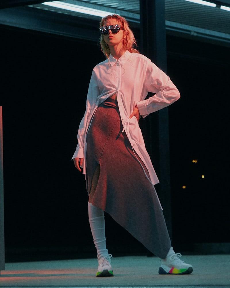 Stella McCartney White Gradient Eclypse Sneakers