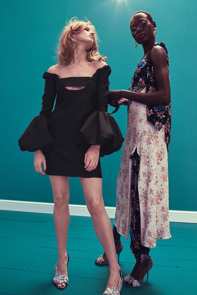 Valentino Bell-Sleeve Silk Crepe Dress