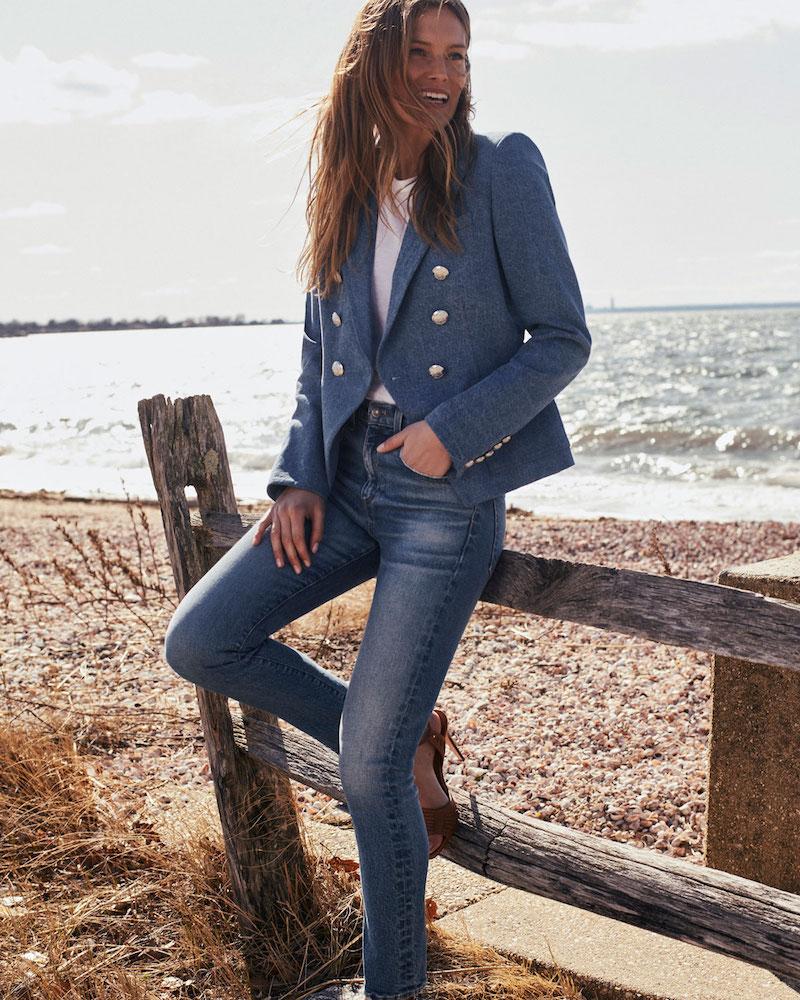 Veronica Beard Faye High-Waist Skinny Ankle Jeans