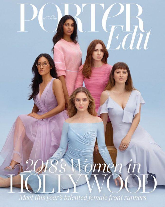 Women in Hollywood 2018: Lisa Nishimura, Lilly Singh, Kathryn Newton, Karen Gillan & Marielle Heller for The EDIT