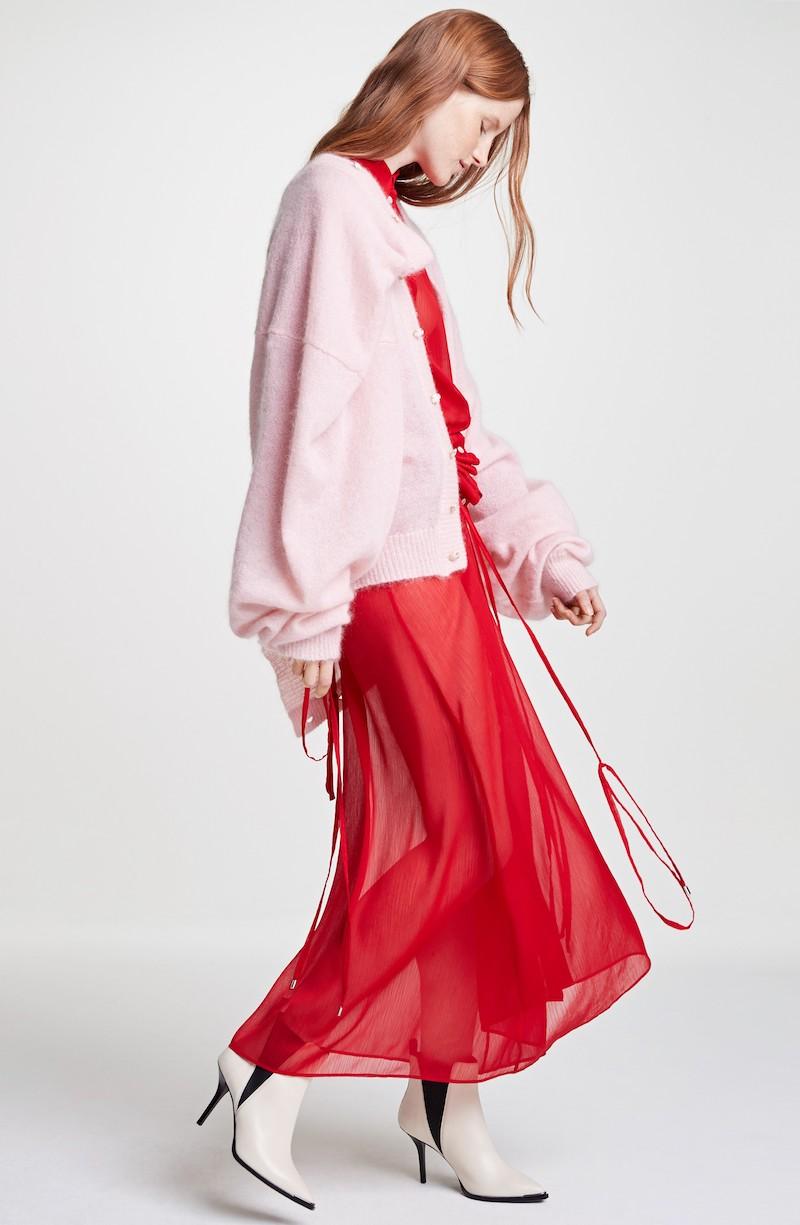 Y:Project Sheer Drawstring Shirtdress