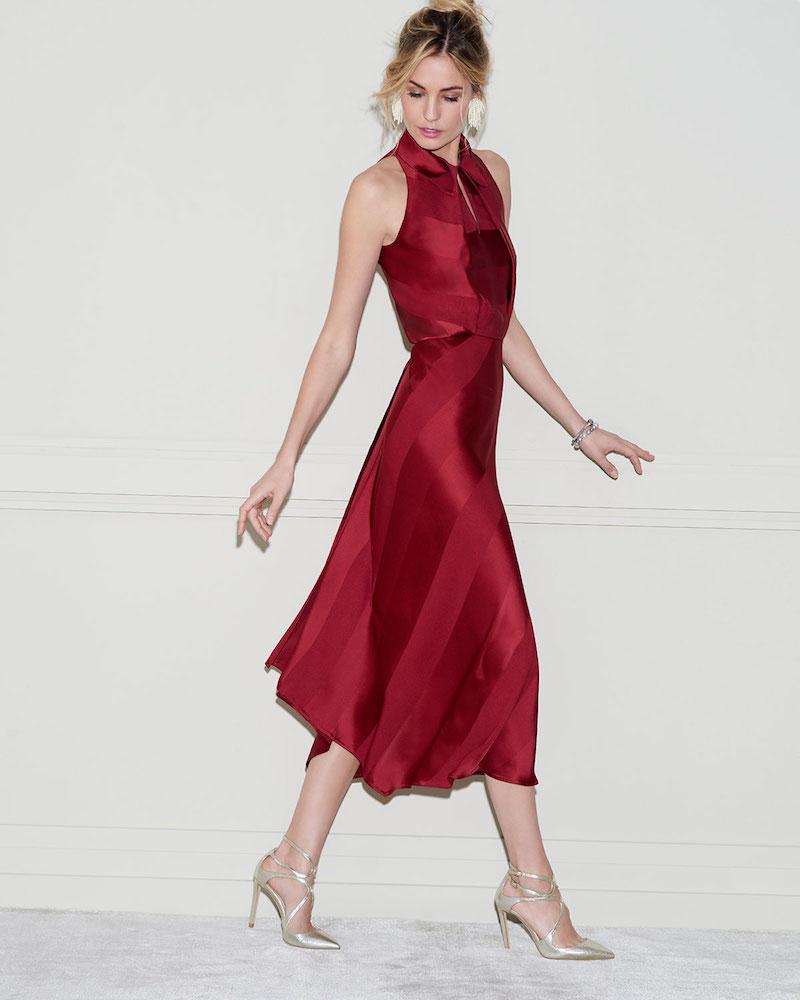 Zac Posen Sleeveless Bias-Cut Cocktail Dress