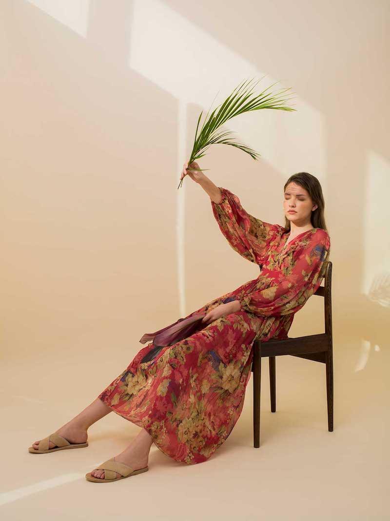 Zimmermann Melody Wrap Floral-Print Silk Dress