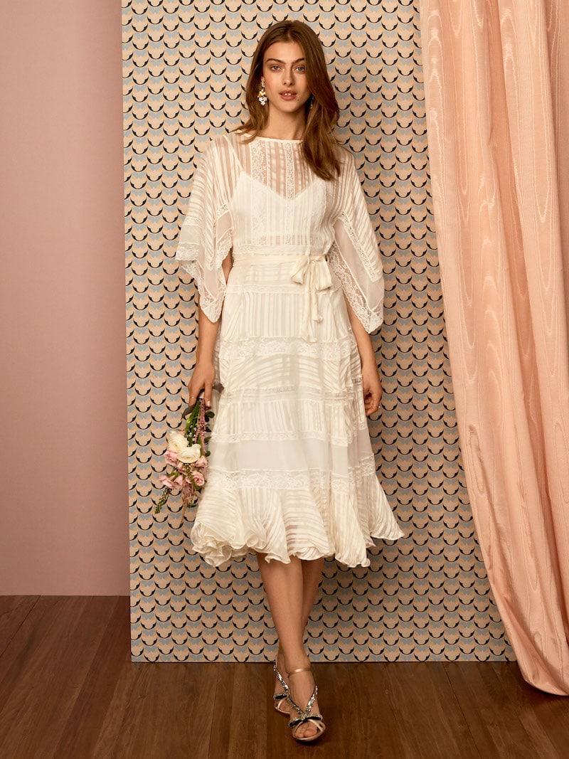 Zimmermann White Wave Veil Dress