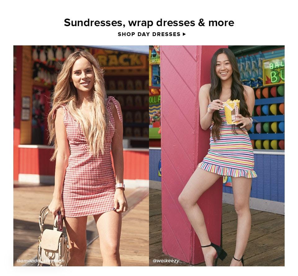 Sundresses, wrap dresses & more. Shop Day Dresses.