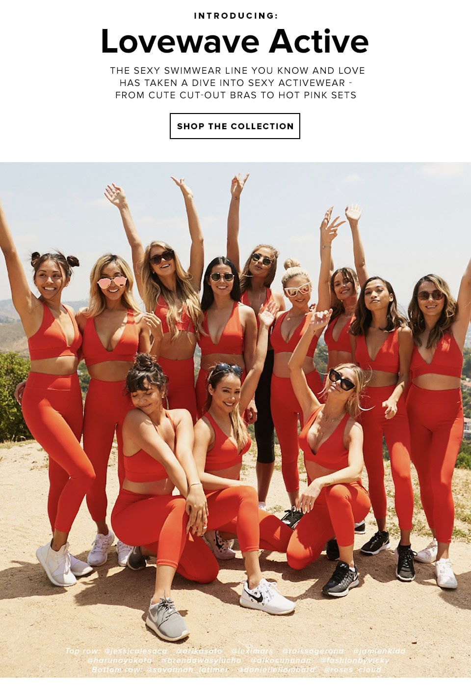 Introducing: Lovewave Active. The sexy swimwear line you know and love has taken a dive into sexy activewear - from cute cut-out bras to hot pink sets. Shop The Collection.