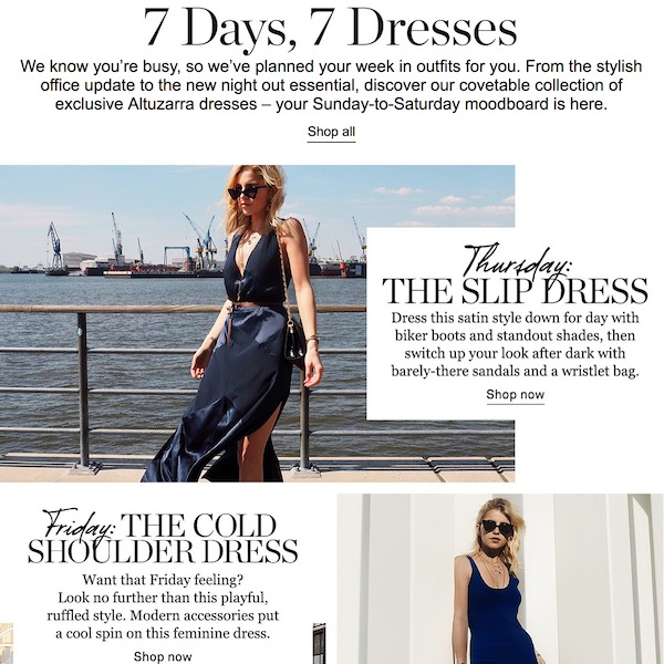 7 Days, 7 Dresses: A Dress for Everyday of the Week