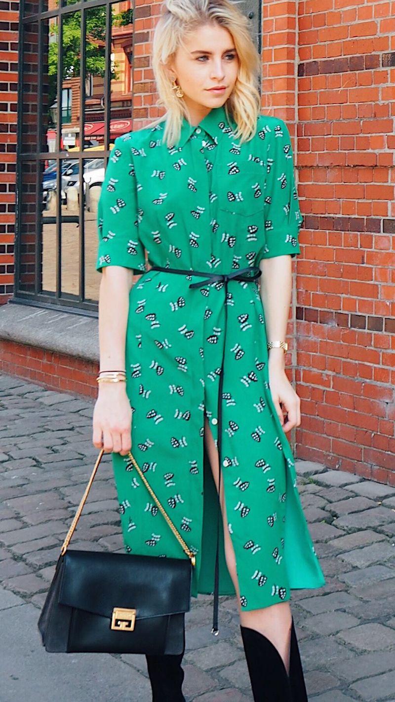 Altuzarra Wednesday Belted Printed Silk Crepe De Chine Shirt Dress
