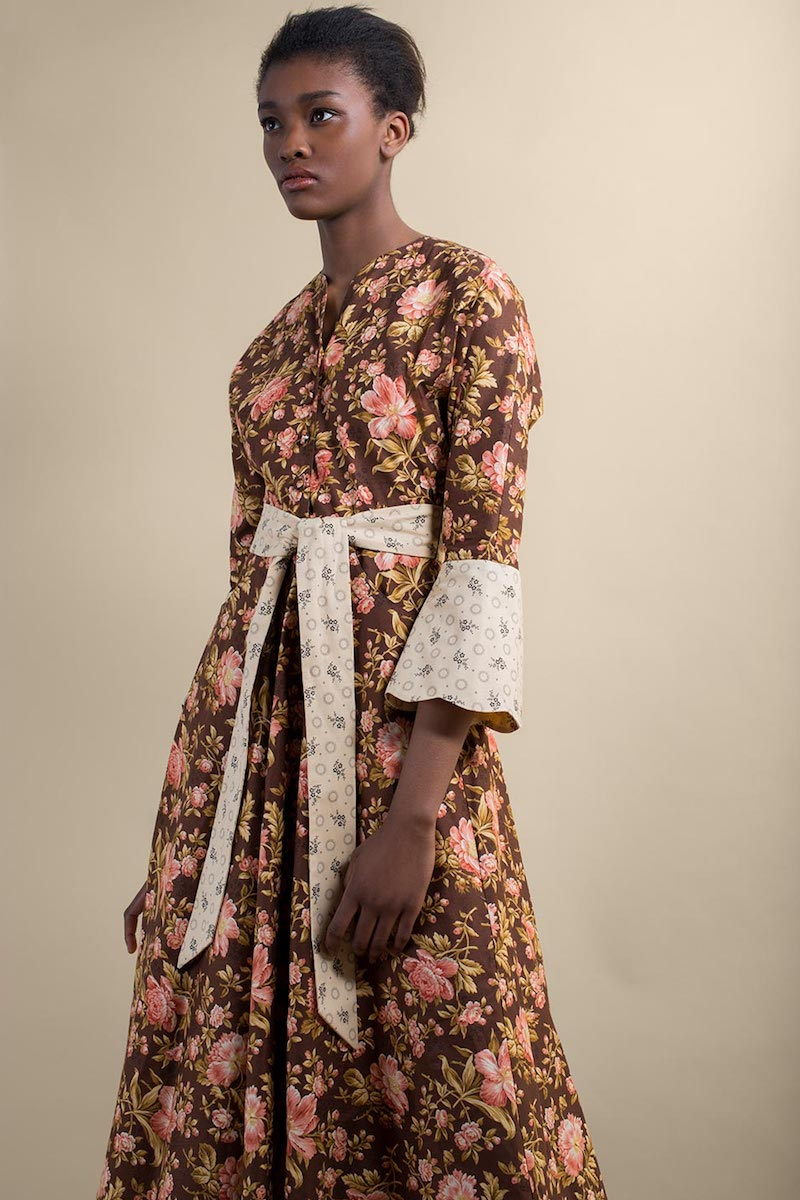 Batsheva Floral-Print Cotton Dress