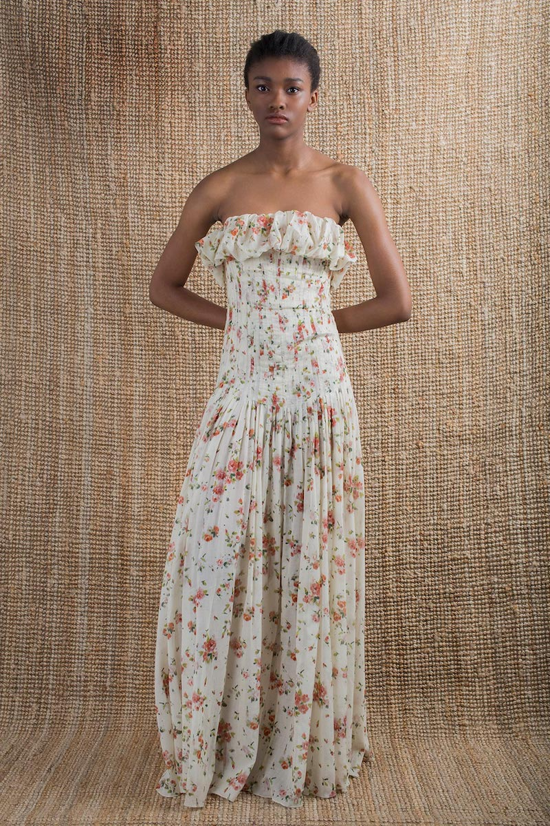 Brock Collection Dosey Roses Floral-Print Voile Dress